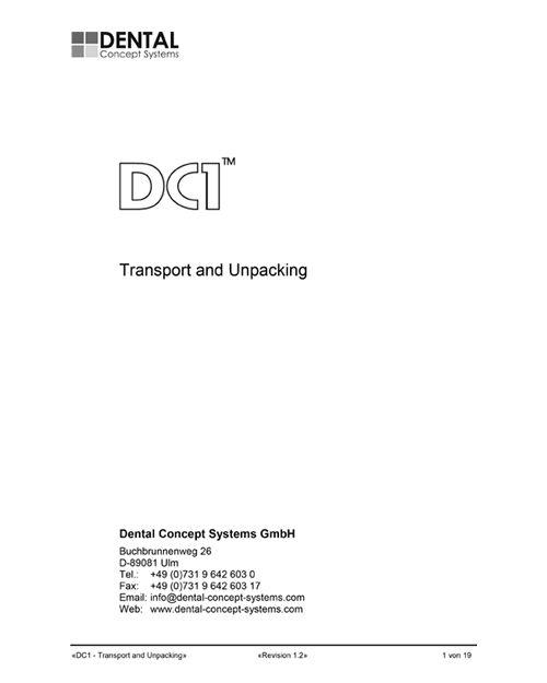 dcs dc1 transport and unpacking documentation