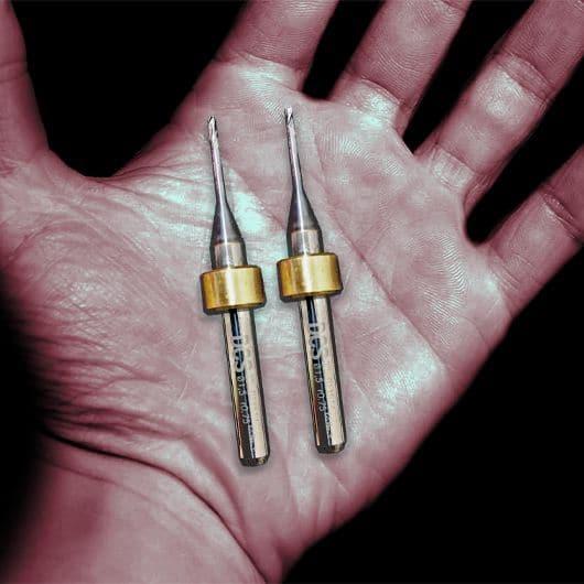 titanium milling tools in hand