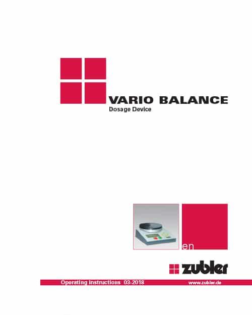 Vario balance User Manual