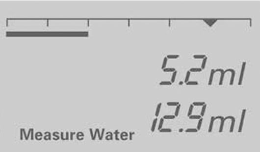 Vario Balance Dosing Device Screen - Measuring Water